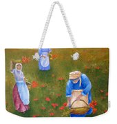 Harvesting Poppies In Tuscany Weekender Tote Bag