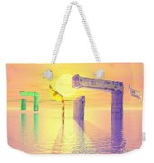 Face Of God Hovering Above The Waters Weekender Tote Bag