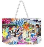 Hat Shopping At Turre Market Weekender Tote Bag