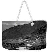 Hatcher's Pass In Black And White Weekender Tote Bag