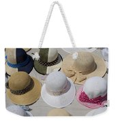 Hats For Sale Next To Marina, Lerici Weekender Tote Bag