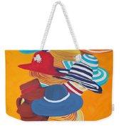 Hats Off Weekender Tote Bag by Deborah Boyd