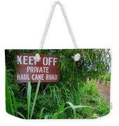 Haul Cane Road Weekender Tote Bag