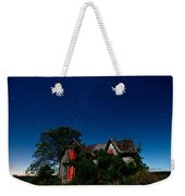 Haunted Farmhouse At Night Weekender Tote Bag by Cale Best