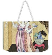 Have You Had A Good Dinner Jacquot? Weekender Tote Bag by Georges Barbier