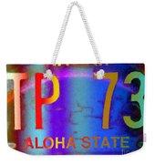 Hawaii Aloha State Weekender Tote Bag