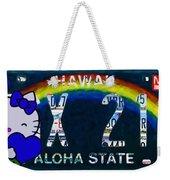 Hawaii License Plate Weekender Tote Bag