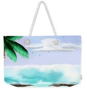 Hawaii Waves Weekender Tote Bag
