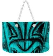 Hawaiian Aquamarine Mask Weekender Tote Bag