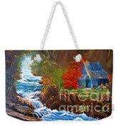 Hawaiian Hut By Rushing Waters Weekender Tote Bag
