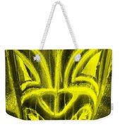 Hawaiian Mask Negative Yellow Weekender Tote Bag