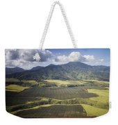 Hawaiian Pineapple Fields Weekender Tote Bag