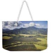 Hawaiian Pineapple Fields Weekender Tote Bag