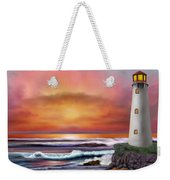 Hawaiian Sunset Lighthouse Weekender Tote Bag