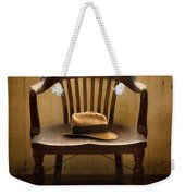Hawk And Fedora On Chair Weekender Tote Bag