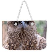 Brown Hawk Face Profile Weekender Tote Bag