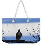 Hawk On Branch Weekender Tote Bag