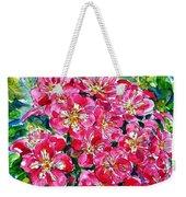 Hawthorn Blossom Weekender Tote Bag