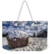 Hay Bale In The Snow Weekender Tote Bag