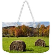 Hay Bales And Fall Colors Weekender Tote Bag