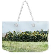 Hay Bales And Sunflowers Weekender Tote Bag