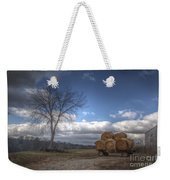 Hay Bales On A Wagon Weekender Tote Bag
