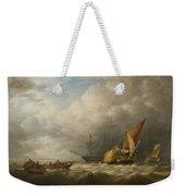 Hay Barges In The Thames Estuary Weekender Tote Bag