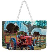 Hay Rides Trailer Weekender Tote Bag