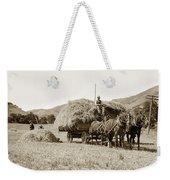 Horse-drawn Hay Wagon Carmel Valley California Circa 1905 Weekender Tote Bag