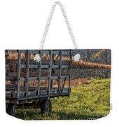 Hay Wagon In Field Weekender Tote Bag