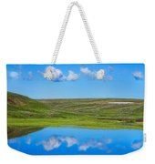 Hayden Valley Cloud Reflection Yellowstone National Park Weekender Tote Bag