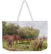 Haymaking Weekender Tote Bag by Arthur Hopkins