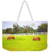 Hayrolls And Fences Weekender Tote Bag