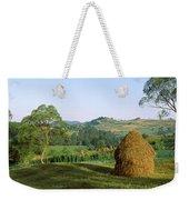 Haystack At The Hillside, Transylvania Weekender Tote Bag