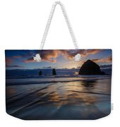 Haystack Rock And The Needles Weekender Tote Bag