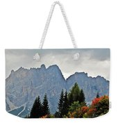 Haze And The Dolomites Weekender Tote Bag