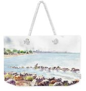 Hazy Morning At Crab Cove In Alameda California Weekender Tote Bag