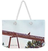 Hdr Dove On A Pipe Weekender Tote Bag