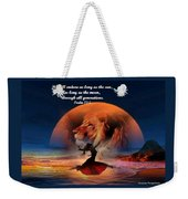 He Will Endure Weekender Tote Bag