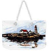 Head Harbour Lighthouse - Field Sketch Weekender Tote Bag