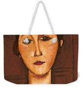Head Of A Girl Weekender Tote Bag
