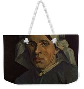 Head Of A Peasant Woman With White Cap Weekender Tote Bag