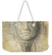 Head Of A Woman Weekender Tote Bag by Michelangelo Buonarroti