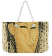 Head Of A Young Women Weekender Tote Bag