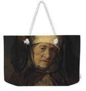 Head Of An Aged Woman Weekender Tote Bag by Rembrandt