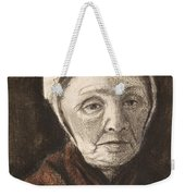 Head Of An Old Woman In A Scheveninger Weekender Tote Bag