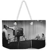 Head Of Production Lowell Cable Cameraman Panel  Kvoa Tv Circa 1955 Color Added 2013 Weekender Tote Bag