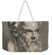Head Of Socrates Weekender Tote Bag by Anonymous