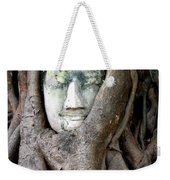 Head Of The Sandstone Buddha Weekender Tote Bag