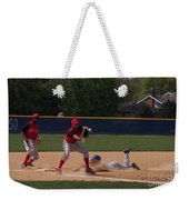 Head Slide In Baseball Weekender Tote Bag